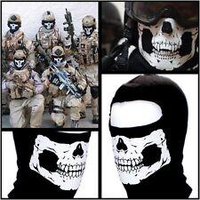 Ghost Skull Black Face Biker Bike Ski Mask Balaclava Motorcycle Chopper Costume