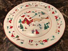 """Farberware """"White Christmas"""" Round Chop Plate Platter 12 3/8"""" #391 1995"""