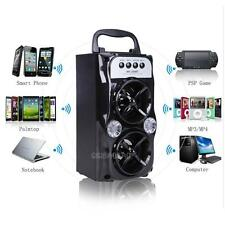 Portable Bluetooth Rechargeable Dual Speaker Powered PA Party Voice Amplifer USB