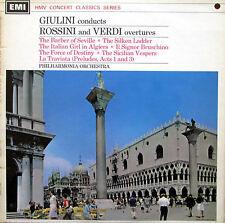 Carlo Maria Giulini RARE SIGNED AUTOGRAPHED LP Rossini Verdi Overtures SXLP30094
