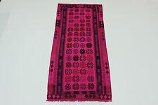 nomades Vintage Kelim élégant rose très bien PERSAN TAPIS d'Orient 2,58 x 1,14