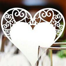 Wedding Heart Table Decoration Place Cards Laser Cut Party DIY Decors 50pcs/set