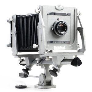 :Graflex Graphic View 4x5 Monorail Camera w/ Schneider Symmar 135mm f5.6 Lens