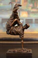 Bronze Sculpture Hip Hop dancer Figurine Bronze Statue, Signed: Milo