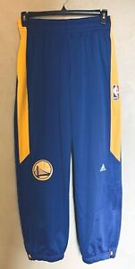 Adidas NBA Authentic Warriors Men's Basketball Pants Blue Size Small NEW