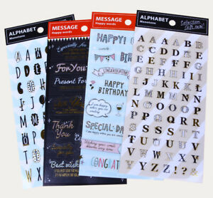 170-Stickers 4er-Set Party Favor Geschenkideen Gift Warp Geschenken Stickeralbum
