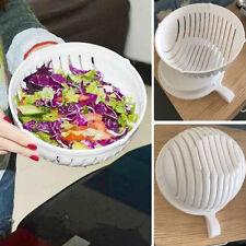 Salad Cutter Bowl 60 Second Easy Make Your Salad Tool Fruit Washer Slicer Gadget