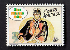 SAN MARINO FRANCOBOLLO COMICS FUMETTI CORTO MALTESE NUOVO HUGO PRATT MNH** 1997