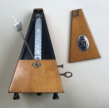 """Vintage German """"System Maelzel"""" Metronome with Bell - Working Order"""