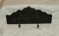 NEW DOUBLE COAT HOOK EMBOSSED WOOD HAND CRAFTED INDIA MIDDLE EASTERN STYLE