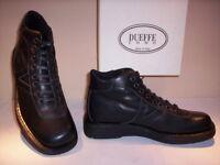 Chaussures montantes desert boots bottes Dueffe homme cuir noir neuf 42