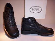 Scarpe alte polacchini scarponcini Dueffe uomo shoes men pelle neri nuovi new 42