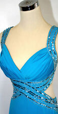 NWT HAILEY LOGAN $170 Turquoise Prom Evening Gown 11