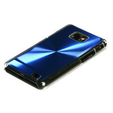 AT&T SAMSUNG GALAXY S2 II BRUSHED ALUMINUM PLATE ACRYLIC CASE BLUE