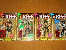 KISS FIGURES COMPLETE SET WITH LETTERS NEW IN PACKAGES 1997 MCFARLANE