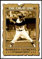 Roberto Clemente 2021 Topps Heritage 5x7 The Great One Gold #GO-6 /10 Pirates