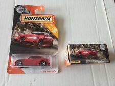 Matchbox 2020 Mbx City '16 Alfa Romeo Giulia (1) Card (1) Power Grabs lot of 2