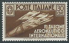 1935 REGNO SALONE AERONAUTICO 30 CENT MH * - Y226