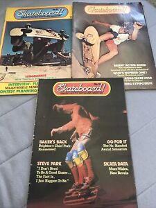 Skateboard! Magazine No,13,16,18,, 1978