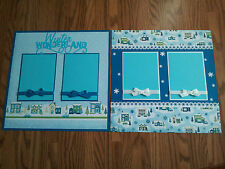 "Winter Wonderland 2 Page Scrapbook Layout 12""x12"" Snow Shadow Box Decoration"