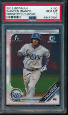 PSA 10 WANDER FRANCO 2019 Bowman Prospects Chrome Rays Rookie RC GEM MINT QTY