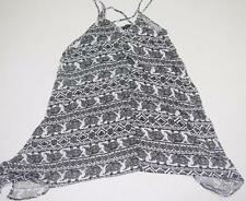 Womens Dress XS Aztec Elephant Print Sundress Black White NWT