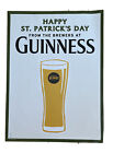GUINNESS BEER POSTER HAPPY ST PATRICKS DAY GUINNESS BLONDE  POSTER 30 X 22 NEW!