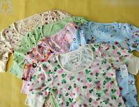 Delias for Topshop Floral Star Owl Bird Motif Fun Print Jersey Tee T-shirt Top