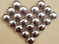 100 Silver Tone Metal Dome Claw Punk Studs Rivets 10mm Belt Leather Craft DIY
