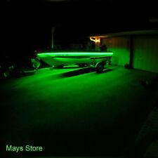 Green LED Boat Light Deck Waterproof 12v Bow Trailer Pontoon Lights Kit Marine