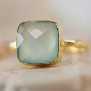 10mm Chalcedony Gemstone Band Stackable Ring Solitaire Ring Pomellato Nudo Rings
