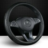 "Steering Wheel Cover for Car SUV Truck Odorless Echo Tech Black 14.5""-15.5"""