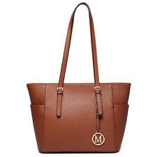 Ladies Designer Tote Shoulder Handbag PU Leather/PVC Jelly Alphabet Bag