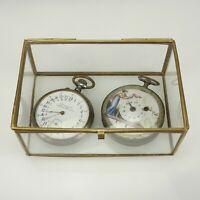 Taschenuhren Etui Glas Vitrine Dose für gold silber uhren spindel chronometer