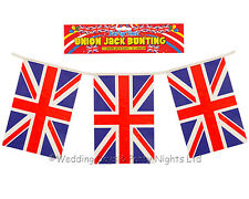 Plastic Union Jack Bunting Great Britain Flag Banner Patriotic Party Decorations