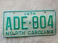 American number licence plate North Carolina vintage old car genuine USA 3