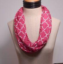Quatrefoil Infinity Scarf - Jersey Knit - Hot Pink   Receive 3-5 days USA