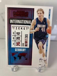 2020-21 Panini Contenders Dirk Nowitzki RED PARALLEL International Ticket #22