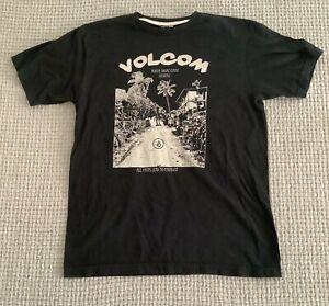 Volcom Mens Large North Shore Oahu Hawaii Black T-Shirt Top ~ J49