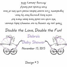 Baby Shower *Twins*  Candy Bar Wrappers/Birthday Party Favors- Boy or Girl