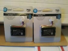 2 Of Them Onn Cordless Phone Battery, 3.6V 750Mah Battery