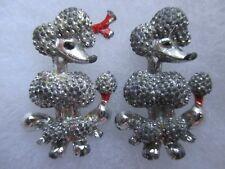 2 Vintage Poodle Pins / Brooches~ L@K~