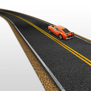1/64 Scale Real Roads Set Fits Matchbox Roadway, Hot Wheels, Dioramas STYLE-1