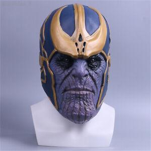 Avengers:Infinity War Thanos Helmet Full Mask Marvel Cosplay Prop Latex Headgear