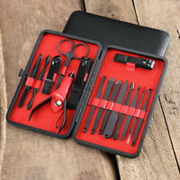 12/16 PCS/Set Pedicure Manicure Set Nail Clippers Cleaner Cuticle Grooming Kit