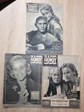 3x Magazines TELEVISION RADIO CINEMA Années 1954-1958 Covers MARIA SCHELL