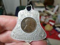 1935 Good Luck Coin, Souvenir of Washington DC, Bell Design