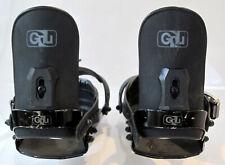 Vtg GNU Snowboard Bindings Medium M/L Black union force bent metal burton custom