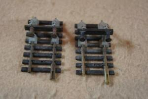 HO Fleischmann 2 x buffers on 6003 50mm long track in good used condition