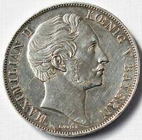 2 Gulden Silbermünze 900 Silber 21,11 g Maximilian II. Bayern Mariensäule 1855